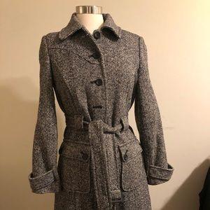 Ladies black & white Tweed Coat